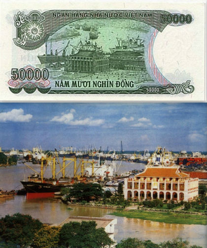 The famous Vietnamese attractions described on Vietnam currency