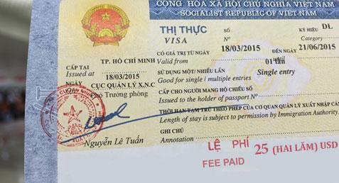Get visa stamped upon arrival